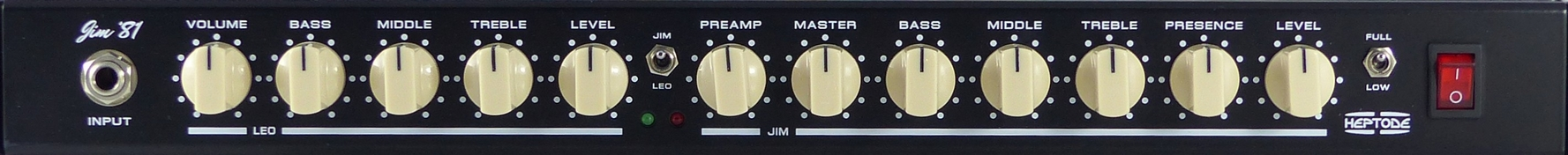 Heptode Jim '81 front panel